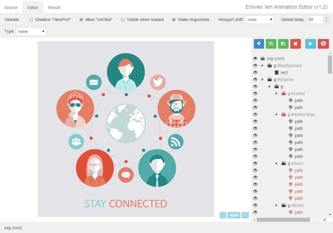 Enliven em javascript animation engine for svg editor screenshot baditri Images